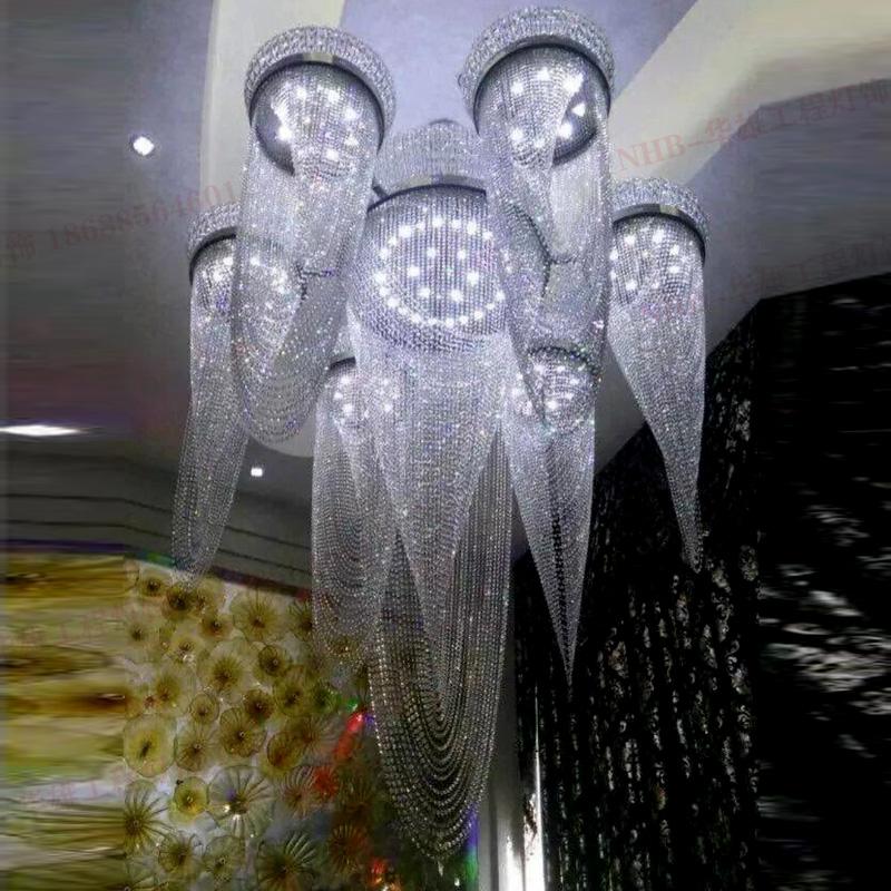 酒店奢华水晶吊灯