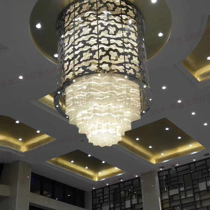 酒店会所大堂水晶吊灯