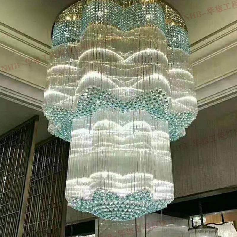 浙江浅蓝色八瓣形水晶灯