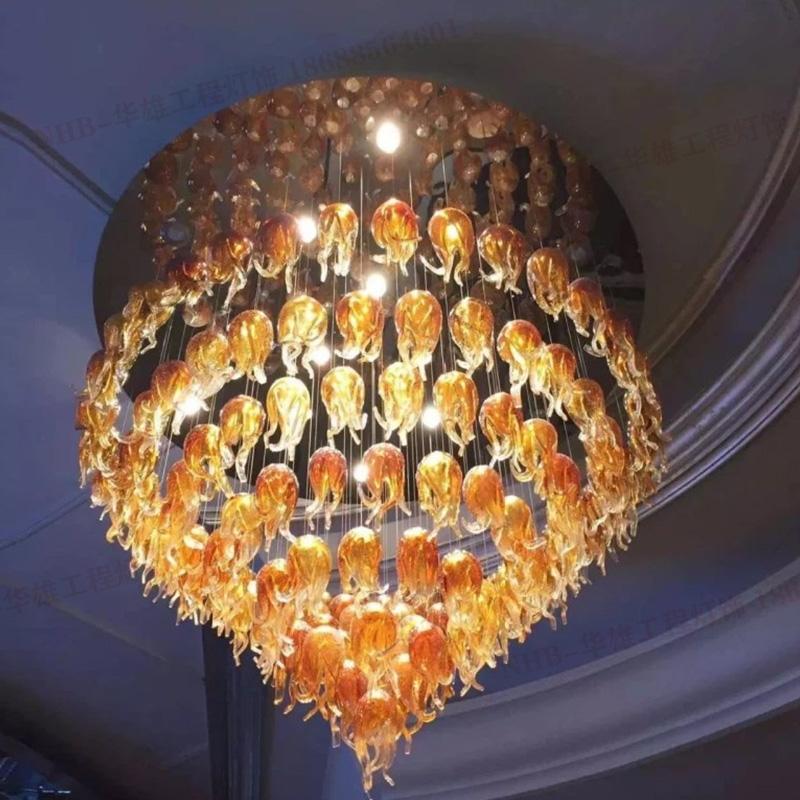 琉璃玻璃艺术吊线灯