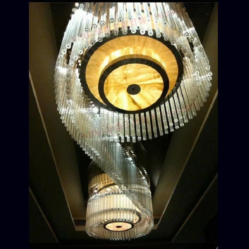 酒店过道S形水晶灯