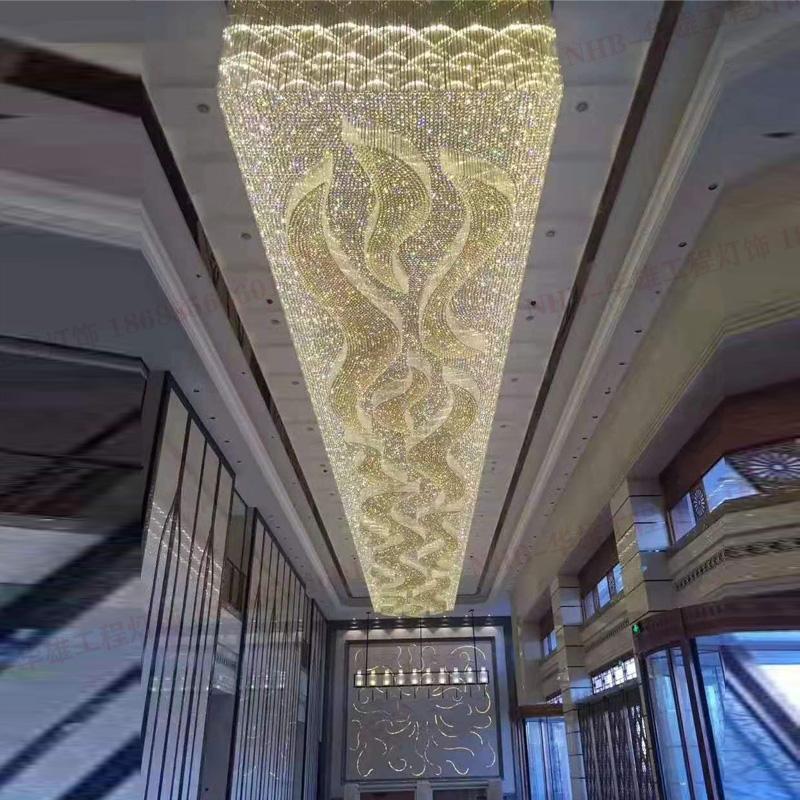 酒店大厅大堂水晶吸顶灯