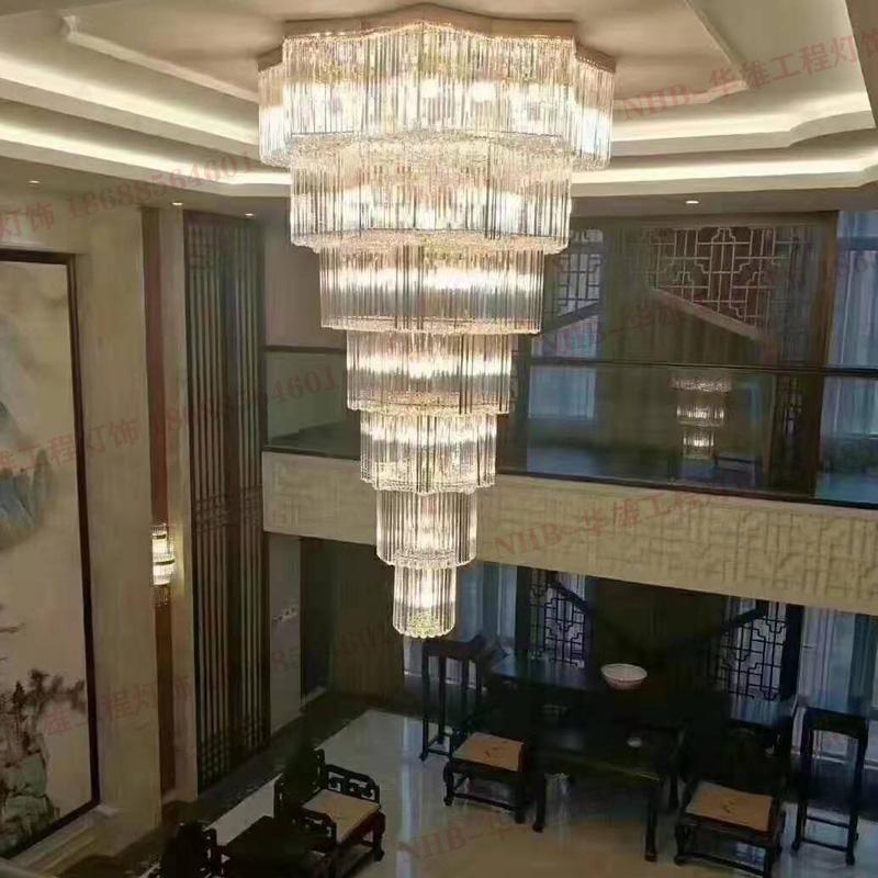 复式楼客厅大厅水晶灯