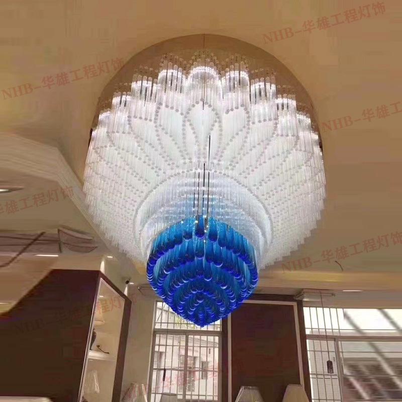别墅大厅椭圆水晶灯