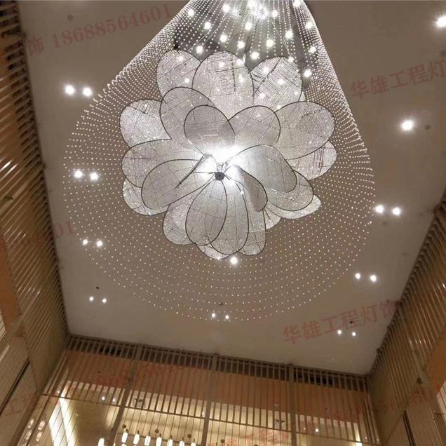 菠萝珠花型水晶吊线灯