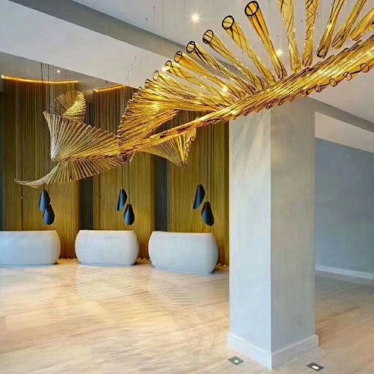 茶色玻璃艺术吊灯
