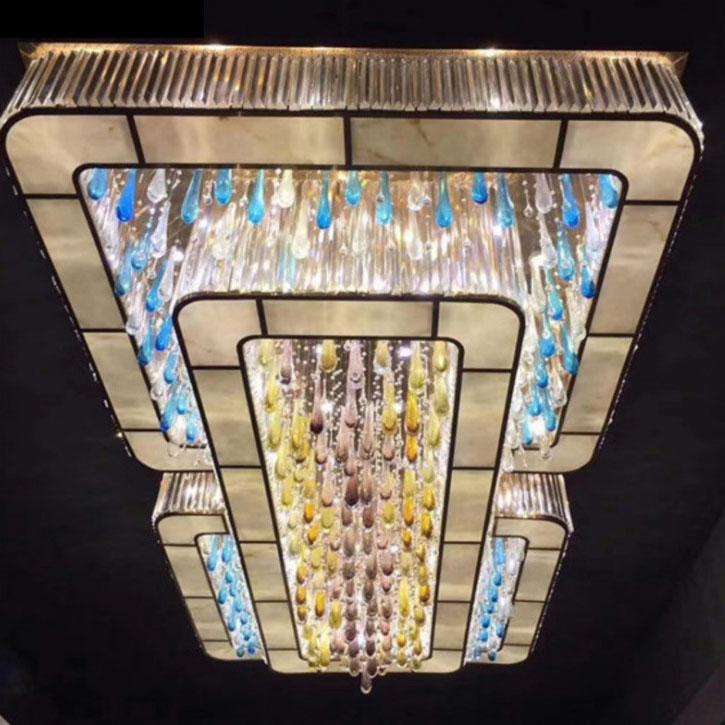 琉璃玻璃艺术吸顶灯