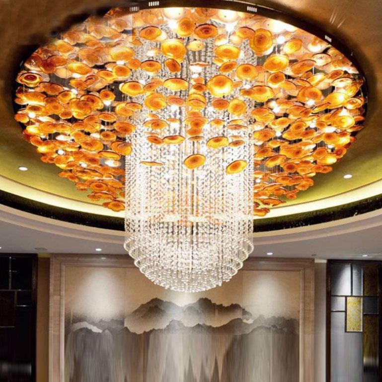 琉璃荷叶艺术灯