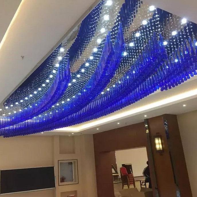 蓝色艺术吊线灯
