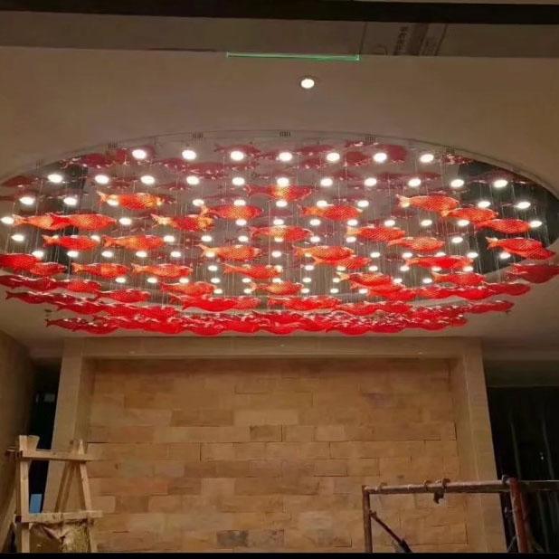 鱼艺术吊线灯