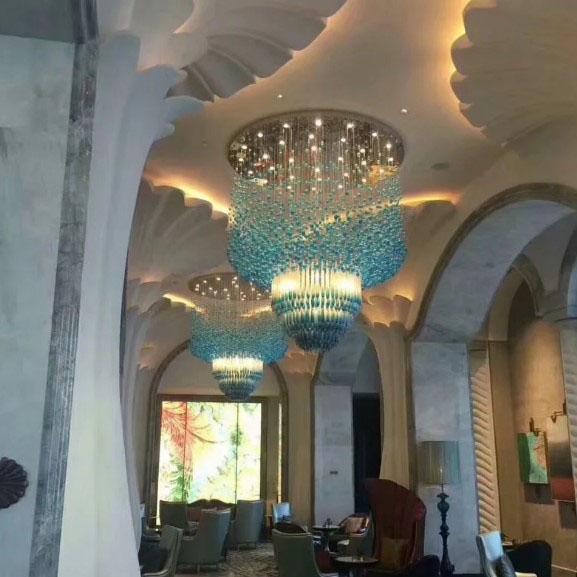 浙江琉璃艺术玻璃吊灯